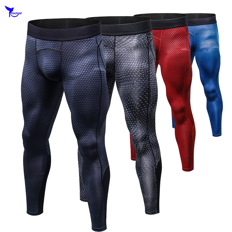 Mens compression pants bodybuilding jogger fitness exercise skinny leggings quick drying tights pants trousers clothes clothing