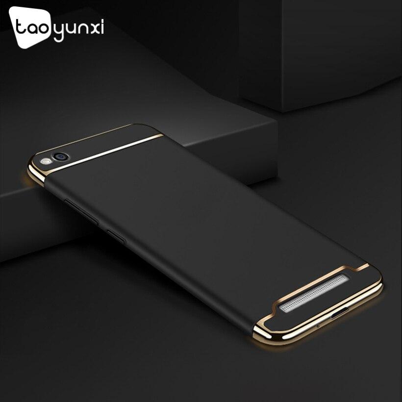 TAOYUNXI Plating Plastic Case For Xiaomi Redmi 5A Case Back Cover Coque Funda for Redmi5A 5.0 inch Anti-Knock Etui Premium Case