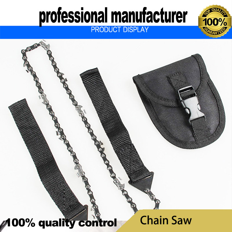 chain saw hand saw for camping survive use made of good quality steel at good price with belt for hand hold