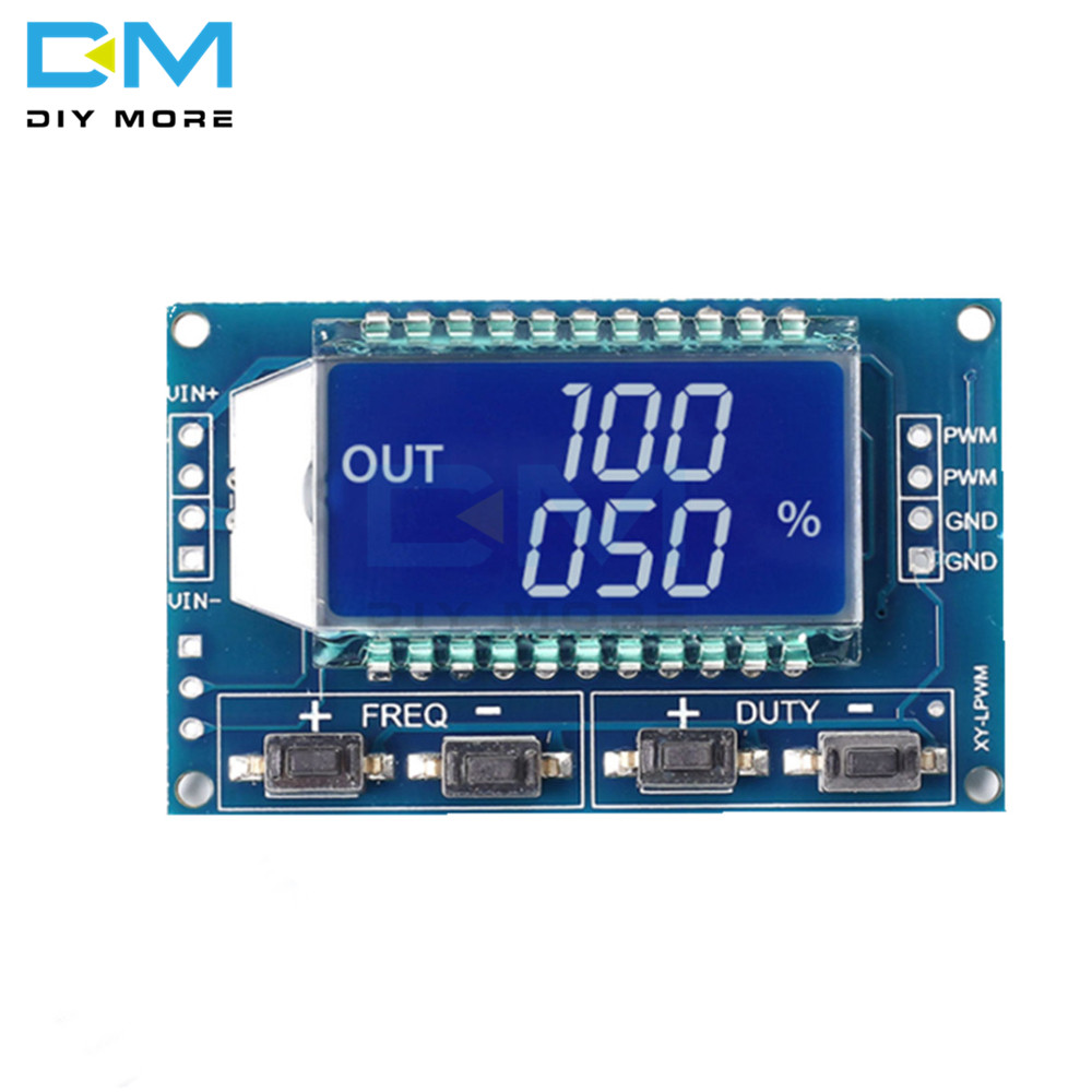 3.3V-30V Signal Generator PWM Pulse Frequency Duty Cycle Adjustable Module LCD Display 1Hz-150Khz PWM Board Module