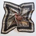 90x90 cm Lenços de Seda Impressão Milhares De Aves De Grande de Seda Quadrado Lenço Noivo dos homens Seção de Alta-final de Luxo Cachecol RUA