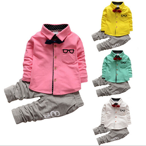 2016 New Children's Clothing  Shirts+pants Trousers Korean Suits  baby Girls boy Kid Children Clothing Retail and wholesale