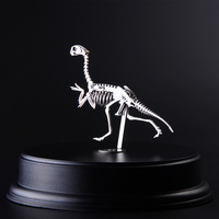 Creative Metal Model Oviraptor Dinosaurs Finished Product No Assembly Educational Toys Collection Home Furnishing Desktop Crafts