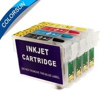 Colorsun перезаправляемый картридж T1281 для Epson S22 SX125 SX130 SX235W SX420W SX440W SX430W SX425W SX435W SX438 SX445W BX305F