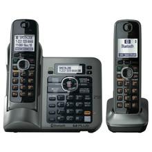 2 Трубок KX-TG7641 серии DECT 6.0 ссылка к клетке Цифровой беспроводной телефон Беспроводной Телефон