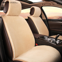 Karcle Plush Seat Cover Kit Soft Warm Seat Cushion for Winter Durable Driving Pad Breathable Car Styling Auto Accessories