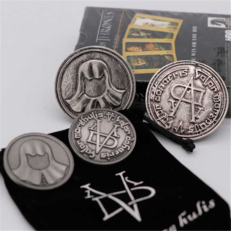 Een Lied Van Ijs En Vuur Game Of Thrones Cosplay Prop Braavos Faceless Coin Valar Morghulis Jaqen H'ghar Arya Stark badge Speelgoed Nieuwe