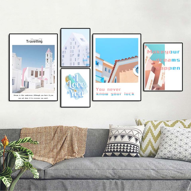Nordic Home Decor Decoration Motivational Poster And Prints Life Quote Wall Art Canvas Painting Pink Aesthetic