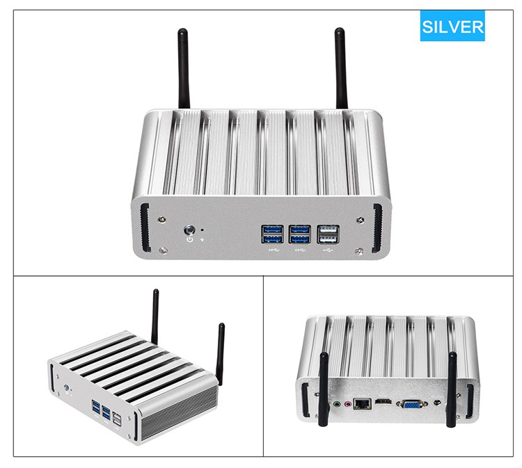 XCY X31 Mini PC with Intel Core i3 4010U i5 4200U i7 4500U CPU Option and 6*USB Ports for Windows 10 Linux 17