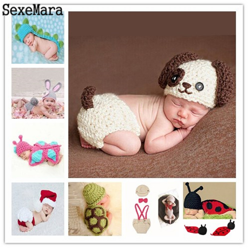Hot Sale Photography Props newborn baby Knitted Costume Crochet Newborn Batman photo prop super hero Beanie Cap Outfit Handmade newborn crochet firemen photography prop costume set