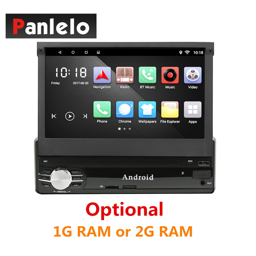 7'' 1 Din Car Radio Quad Core Android 6.0 GPS Navigation Car Stereo 1024*600 Video Player AM/FM Radio Wi-Fi Bluetooth Autoradio