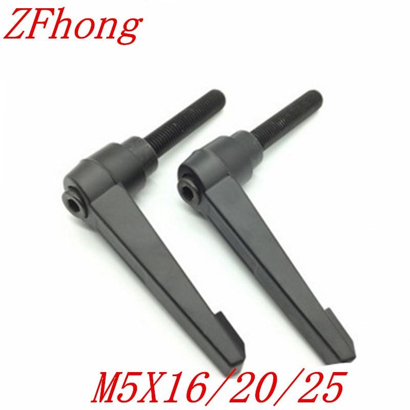 5pcs M5*16/20/25  Black male Thread Clamping Lever Adjustable Handle Knob россия шк в ярославле 25 5