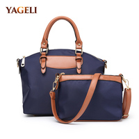 2019 fashion composite bags for women high quality PU leather patchwork oxford women's handbag waterproof women messenger bags