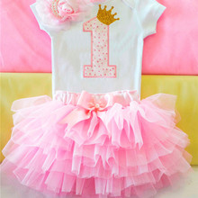 1 Year Girl Baby Birthday Dress New Baby Christening Dresses Tutu Cake Smash Infant Gowns First Years Outfit Girl Bapteme 12M