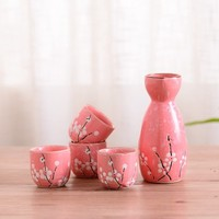 Japan sake set gifts Japanese Chinese liquor liquor spirit wine glass household thermostat pot cup statues Home