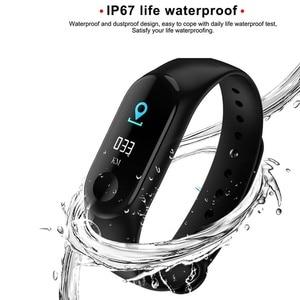Image 5 - חכם שעון M3Plus עמיד למים חכם ספורט צמיד טלפון Bluetooth קצב לב צג כושר חכם צמיד עבור אנדרואיד IOS