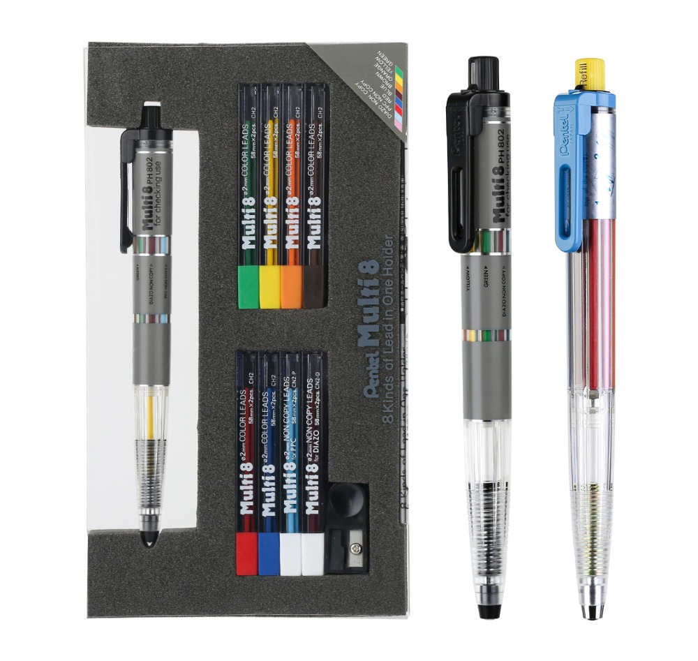 Pentel Mechanical Pencil Colored Pencils Lead Set Draw School Stationery Office Supplies Refillable Pencil Lead Ballpoint Refill цена