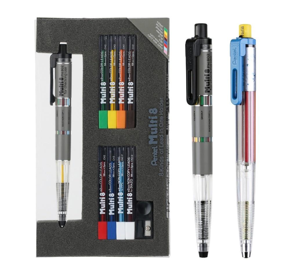 все цены на Pentel Mechanical Pencil Colored Pencils Lead Set Draw School Stationery Office Supplies Refillable Pencil Lead Ballpoint Refill онлайн