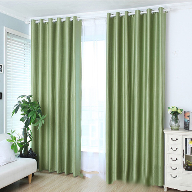 Block Out Curtain Light Black Shade Panel Valance Window Curtains New