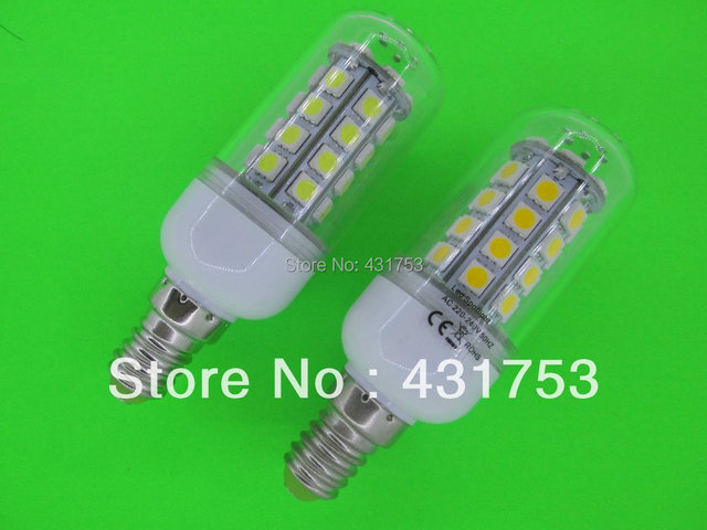 10pcs E14 7W 36 SMD 5050 LED Corn Light Bulb Lamp with Cover White/Warm white E14 More than 5LOT is wholesale Free Delivery