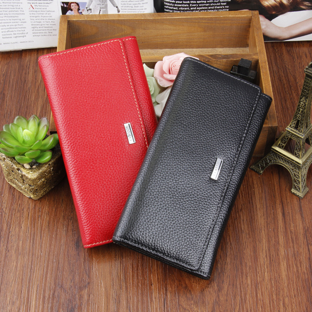 Aliexpress.com : Buy Female coin purse genuine leather clutch bag ...