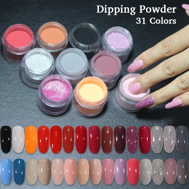 536e6dc91be 4in1 Dipping Powder Nails Set top base coat Activator kit Dip System No UV  Light Needed