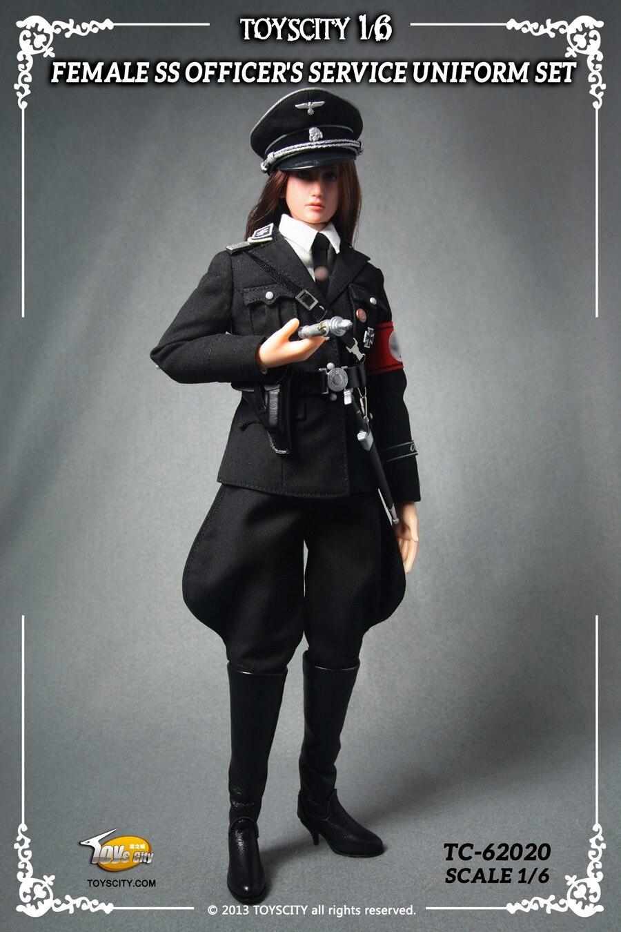 Black Tie ToysCity Toys city 1//6 Scale SS Duty Officers Black Uniform