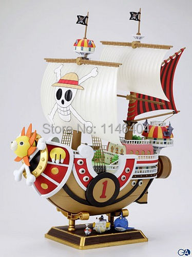 ФОТО Anime One Piece Thousand Sunny Pirate ship Model PVC Action Figure Collectible Toy 35CM