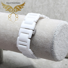 Promotion Top Quality Diamond Ceramic White Strap Bracelet Band For Brand Free Shipping
