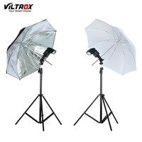 VILTROX Фотостудия освещения Kit-2M осветительная стойка-Трипод + металл флэш-кронштейн держатель + 33 ''белый/черный, серебристый цвет отражающий з...