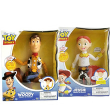 2019 Toy Story 4 Talking Jessie Woody PVC Action Toy Figures Model Toy Kids Birthday Gift Collect Doll for chindren disney pixar toy story 15 inch talking woody jessie pvc cartoon action figure collectible model toy doll for kids gift with box