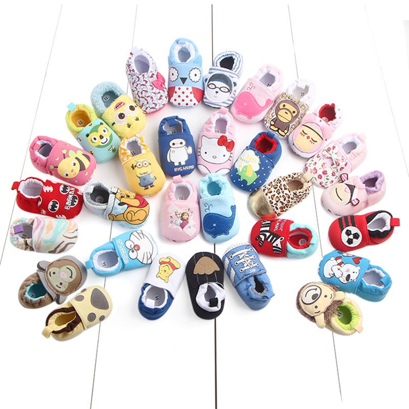 2019New Baby Cartoon Shoes 0-18M Boys Girls Casual Shoes Fashion High Quality Spring Autumn Cute 19 Styles Newborn First Walkers