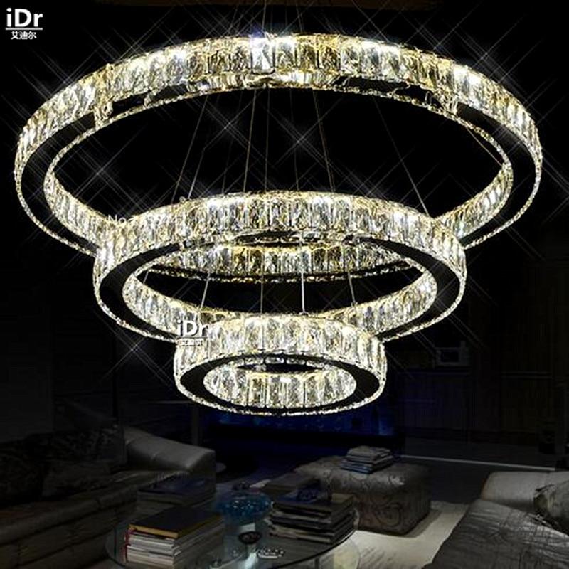 Wholesale Supply Of LED Lamp Modern Crystal Chandeliers Living Room Bedroom Lamp Rectangular LED Energy Saving