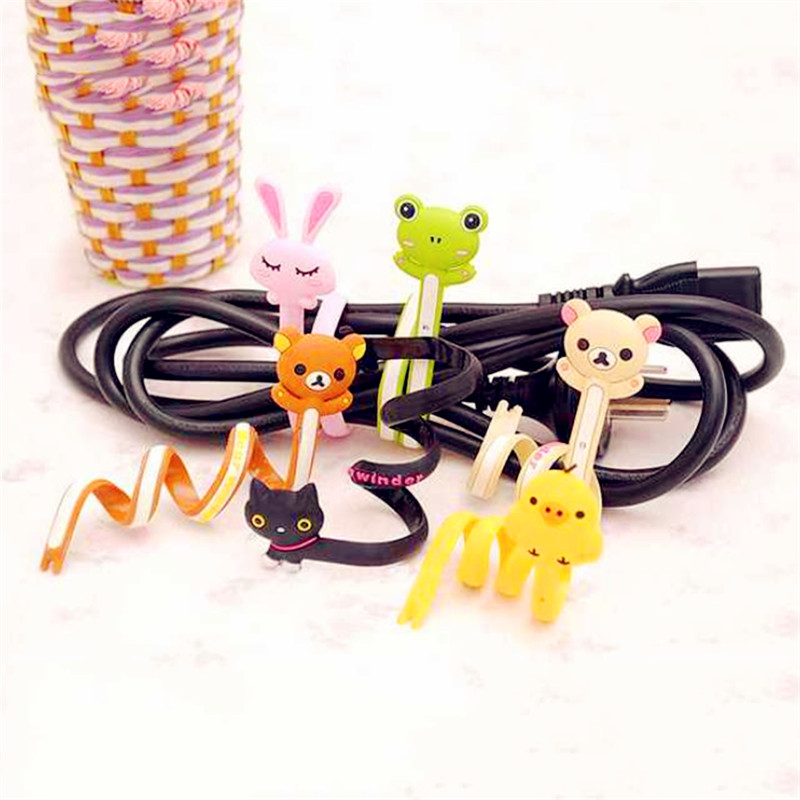 Winder Cable-Protector Phone-Accessories Wire Animal Bobbin Cartoon Dropship Usb-Line