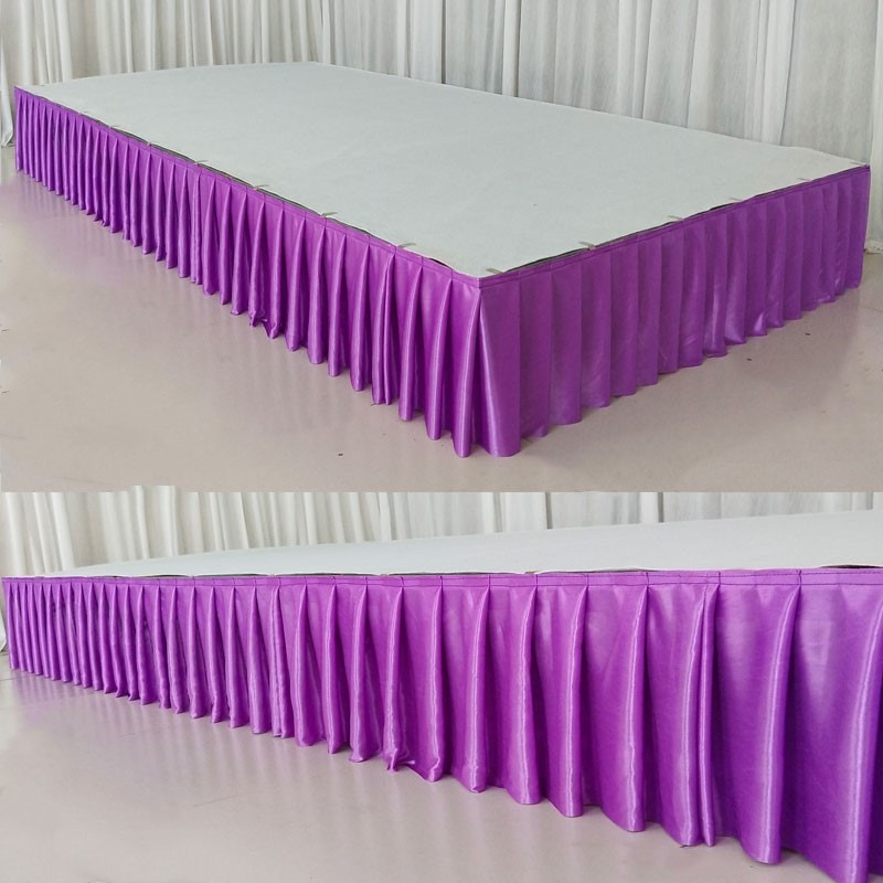 2pcs 75x300cm Ice Silk Chiffon Wedding Table Skirt For Tablecloth Table Cover Wedding Stage Table Skirting Birthday Event Decor