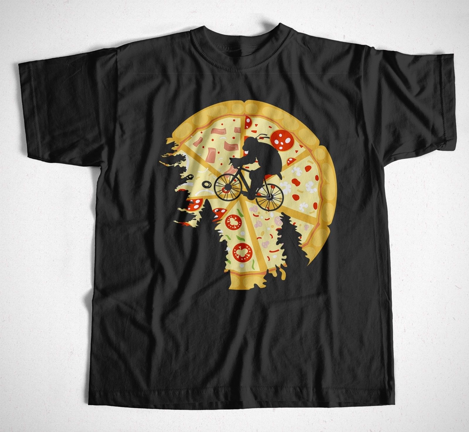 T-Shirt Pizza Moon Schwarz,Foot Soldiers,Turtles Shredder, mutant Ninja Movie Shirt