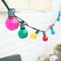 7.65m 25leds Colorful Bulb String Lights Globe Bulbs for Christmas Wedding Patio Backyard Party Garland Lamp Decals B