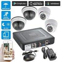 4ch 1080p hdmi dvr 4 pces cctv sistema de segurança infravermelho ao ar livre câmera 720 p ahd sistema de segurança monitor kit|Sistema de vigilância| |  -