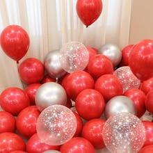 BTRUDI 15pcs /lot wine red  pink balloons 12 inch circular latex balloon birthday party wedding decorations anniversary