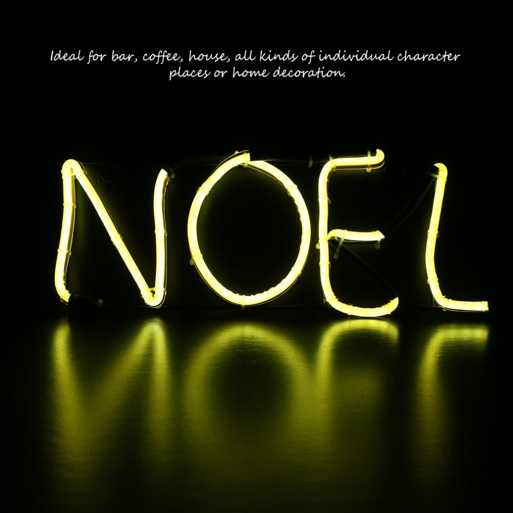 Neon Sign Light NOEL Alphabet Shape Design Room Wall Decorations Home Love Ornament Coffee Bar Mural Crafts ...