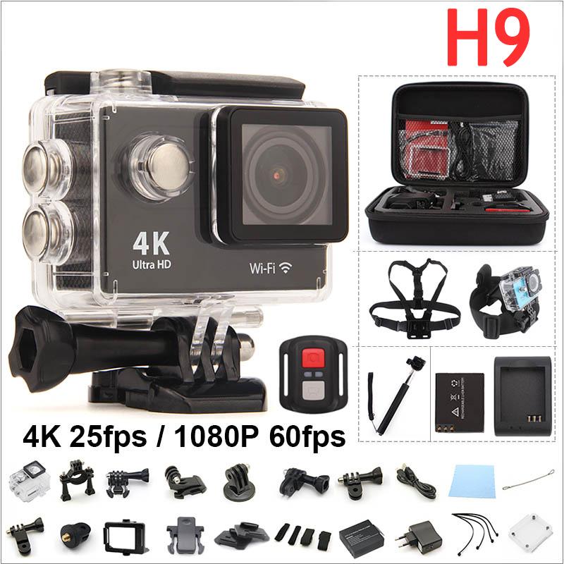 Prix pour Original H9 D'action caméra 4 K WIFI Ultra HD 1080 p 60fps 2.0 LCD 170D Aller étanche Cam pro sport caméra gopro hero 4 style RICH