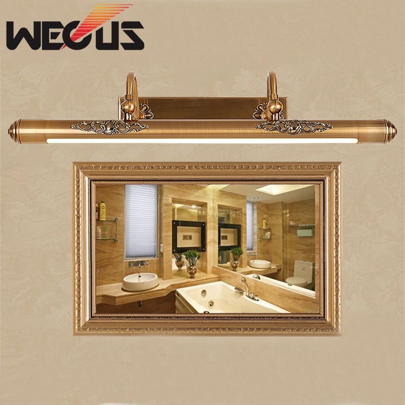 Hotel otthoni preferált fürdőszoba fény vezetett vízálló amerikai ágynemű tükör lámpa 50cm festés ragyogó világítás