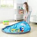 Sacos portátil Toy Kids Play Mat Brinquedos Organizador Moda Prático Bin Caixa de Meninos Meninas Jogar Mat Conveniente Tidy Ajudante Mãe