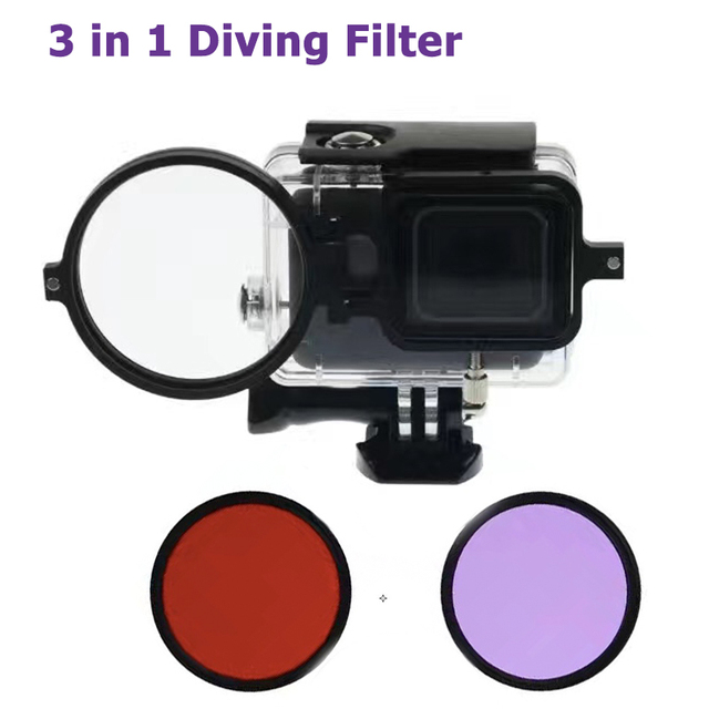 Gopro Hero 5 Accessories 58 mm Glass Dive Filter for Blue and Green Water Gopro hero 5 Black Diving Accessories