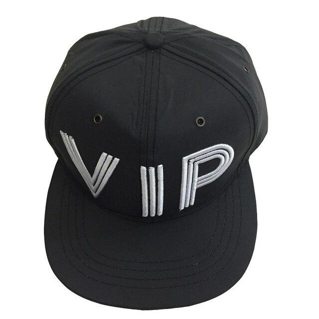 015 new fashion black cap men hip hop  waterproof hat women famous brand letter VIP snapback fans concert caps
