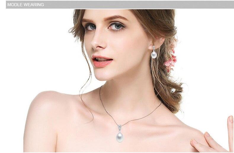 ZHBORUINI 2019 Juego de joyas de perlas Collar de perlas de agua - Joyas - foto 5