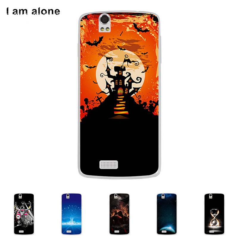 Soft TPU Silicone Case For Fly IQ4503 Era Life 6 5.0 inch Cellphone Mask Color Paint DIY Cover Protective Skin Bag