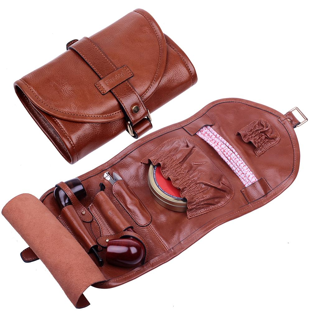 Firedog New Color Genuine Leather Pipe Pouches Two Bag Tools Smoking Accessories Gifts In Pipes From Home