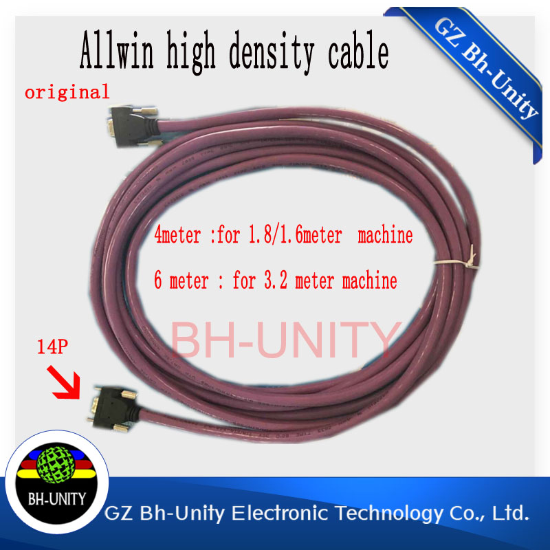 Factory price!!14pin 6m high-density cable of allwin/yaselan/myjet/wit-color/infiniti inkjet printer
