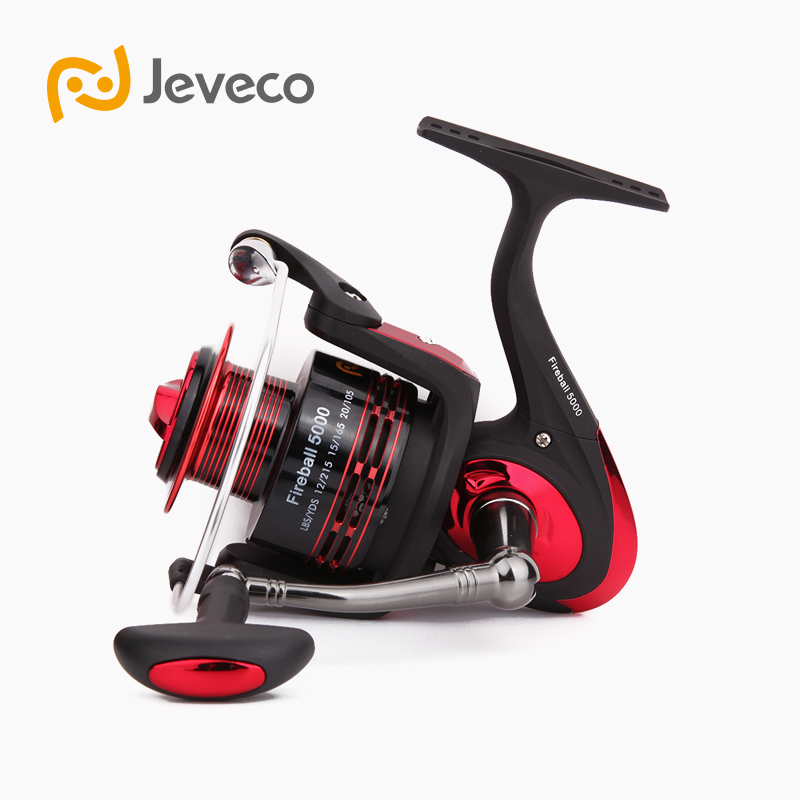 Jeveco FireBall Spinning Fishing Reel, Lure Reel Fishing 5.5:1 6+1BB , High Speed Spinning Reel With Aluminum Spool